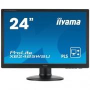 Monitor iiyama XB2485WSU-B3, 24'', LCD, PLS, 16:10, 4ms, 250cd, VGA, DVI-D, DP, USB, repro, výšk.nastav., pivot