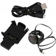 ER Corriente USB De Carga Base Dock Y Cable De Sincronización De Datos Para Garmin Fenix 3 Relojes DeportivosNegro.