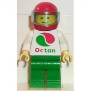 Lego Town Minifigure: Stunt Copter Pilot with Large Octan Oil Logo (1994)