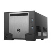 SilverStone SG07B Case PC Mini-ITX Sugo 07 con PSU 600w, Nero