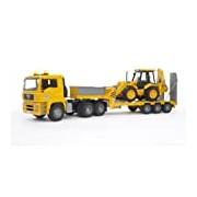 Bruder MAN TGA Low Loader Truck with JCB 4CX Backhoe Loader
