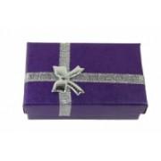 Dárková krabička papírová 5x8cm lesk 9105 Fialová 9105