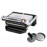 Tefal GC702D. HP Opti Barbecue avec presse à hamburger, 2000 W, (automatique Affichage de la température, 6 programmes pré-programmés Barbecue en acier inoxydable Noir/Argent)