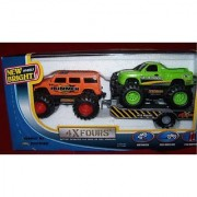 4xFours Hummer H2 & F-150 Ford Supercrew Pickup Truck Battery Operated 4x4 Drive or Free Wheeling 2 Vehicles & One Trail