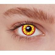 Vegaoo Kontaktlinser fantasi gula och röda vuxen One-size