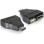 Delock Adapter eSATA+USB > 1x eSATA and 1x USB 65119