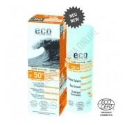 Crema Solar Corporal mineral Surf & Fun con Color SPF50+ Eco Cosmetics 50 ml.