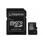 Memoria Flash Kingston, 8GB microSDHC Clase 4, con Adaptador