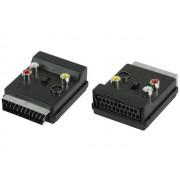 Valueline SCART 60 EuroScart dugó/aljzat - 3xRCA/S-Video adapter