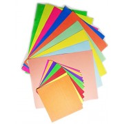 Best Craft Paper Set All in one Pastel paper+ Colored Sheet florescent paper+ origami paper (Pack of 120)
