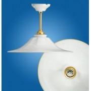 > Lampadario a soffitto fisso Godet rigo d'oro Ø180