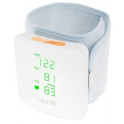 iHealth View Wireless Wrist Blood Pressure Monitor with Display for iPhone and Android (White)