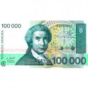 Monede si Bancnote de pe Glob Nr.46 - CROATIA - 100 000 dinari croati