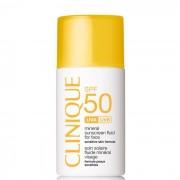 Clinique Protezione Solare Mineral Sunscreen Fluid For Face Spf 50 - Fluido Protettivo Minerale Per Pelli Sensibili Viso, 30 Ml