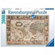 Пъзел от 2000 части - World Map 1650, Ravensburger, 704014