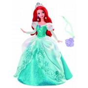 Mattel Disney Princess Holiday Princess Ariel Doll (White,Purple)