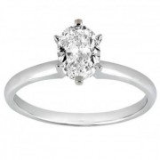 Six-Prong Palladium Engagement Ring Solitaire Setting