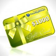 Gift Certificate $1000 Menswear Gift Ideas