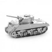 rompecabezas de 3D ??DIY monta Sherman modelo de tanque de juguete educativo - plata
