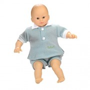 Belonil - Sweet Baby, bambola asiatico con pantaloni e camicia verde (The Europe Doll Factory 181.63420.18101)