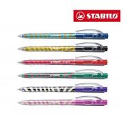 Pack 6 penne a sfera STABILO diversi colori con decorazioni limited edition Tropikana 338/6-5