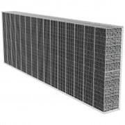vidaXL Muro de gabião com cobertura 600 x 50 200 cm