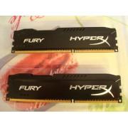 Kingston HyperX FURY 8GB Kit (2x4GB) 1600MHz DDR3 CL10 DIMM - Black (HX316C10FBK2/8)