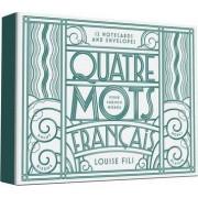 Quatre Mots Francais Notecards by Louise Fili