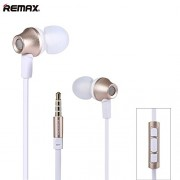 Remax RM-610D In-Ear Headphones with Mic (Gold/White)