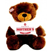 2 feet big brown teddy bear wearing Happy Mothers Day flower T-shirt