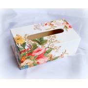 Cutie servetele de hartie - model floral - 8691
