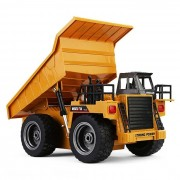 Huina 1540 1:12 2.4g 6ch Rc Camion Benne Basculante Rc Dump Truck Alliage Alloy Télécommandé Auto Fonction De Démonstration-Huina