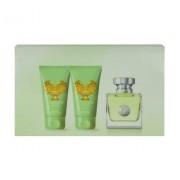 Versace Versense 50Ml Edt 50Ml + 50Ml Lozione Corporale + 50Ml Docciaschiuma Per Donna (Eau De Toilette)