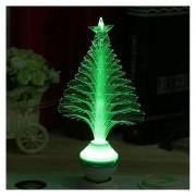 EY 3W E27 LED De Fibra óptica Flor Etapa Luz Del árbol De Navidad De La Lámpara KTV Inicio Verde