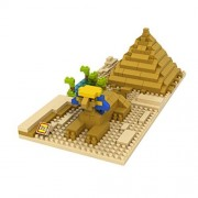 Fu s store TM The World Famous Buildings The Sphinx And Pyramid Cairo Egypt Building Architecture Parent-child Games Building Blocks Diamond Blocks Children s Educational Toys