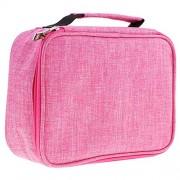 Segolike 72 Colored Pencil Case Pen Holder Travel Organiser Bag for Artists Collectible - rose red