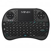 Mini tastiera wireless ergonomica con mouse touchpad Colore Nero Minix