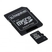 Tarjeta MicroSDHC 8GB Clase 4 Kingston con Adaptador