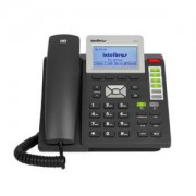 Telefone IP 3 Contas SIP Terminal Voip HD Voice Viva Voz Entrada Headset TIP300 PoE Intelbras 4002001