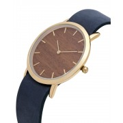 Analog Watch Classic Makore Wood Dial & Navy Strap Watch GN-CM
