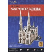 The Cathedral of Saint St Patrick 72 Piece 3-D Puzzle by CB