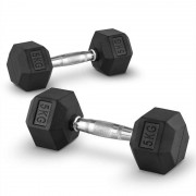 Capital Sports Hexbell Dumbbell Kurzhantel Paar 2x5kg