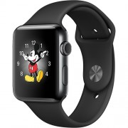 Watch 2 Sport Aluminiu Negru 38MM Si Curea Silicon Negru Apple