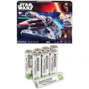 Star Wars - Veicolo Millennium Falcon con 8 Pile Stilo Alcaline AmazonBasics