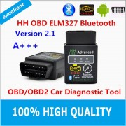 Hot!!! 2016 Best Quality Hot Auto Car ELM327 HH Bluetooth OBD 2 OBD II Diagnostic Scan Tool elm 327 Scanner free shipping