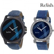 Relish 1101C Analog Watches for Couple's Pack of 2