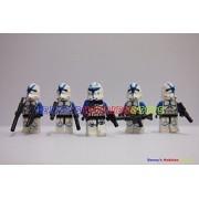 New Minifigure Lot 1 Captain Rex W 4 X Blue Clone Trooper