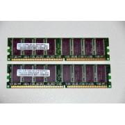 Kit Dual Channel Memorie Calculator DDR1 2x1 GB Samsung PC3200 400 MHz