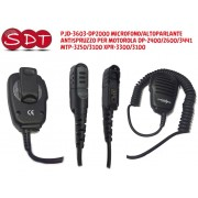 PJD-3603-DP2000 MICROFONO/ALTOPARLANTE ANTISPRUZZO PER MOTOROLA DP-2400/2600/3441 MTP-3250/3100 XPR-3300/3100