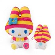 Sanrio My Melody Neon Color Series Plush Doll Cell Phone Charm (Stripe)